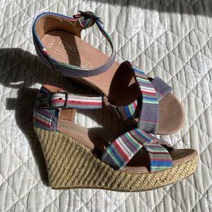 Tom's Most Comfy Sandals Sienna Wedges